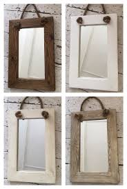 Small Rustic Rope Mirrors