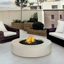 round white concrete fire pit table gas tabletop