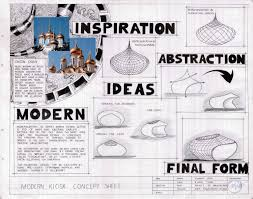 Design Sheets Of Architecture Students A Modern Kiosk Design Arch Student Com