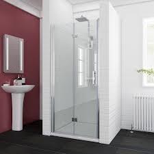 elegant bifold shower door 900mm glass