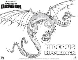 Small Picture Hideous Zippleback Coloring Pages Dragons