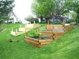 vegetable planter box garden full image for raised veggie gardens boxes hillside build plans