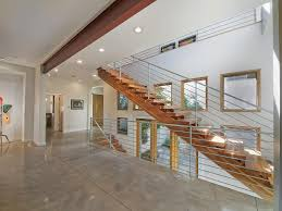 Interior:Red And White Stair Architecture Of Modern Design Idea Wood Stairs  Designs And Green