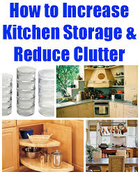 How to Increase Kitchen Storage & Reduce Clutter