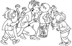 Disegno Mamma Con Bambino Az Colorare