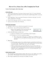 Apa Format Template Word 2010 Chanceinc Co