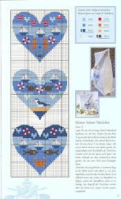 Cross Stitch Nautical Hearts Part 1 With Color Chart
