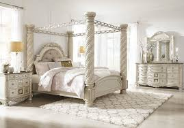 Ashley Cassimore Pearl Silver 6 Pc. Dresser, Mirror, Chest & King Upholstered Bed