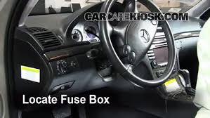 interior fuse box location 2003 2009 mercedes benz e350 2008 mercedes c class fuse box diagram locate interior fuse box and remove cover