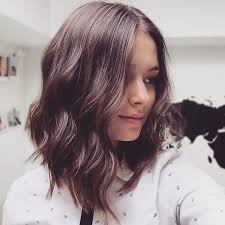 Brunette shoulder length hair
