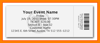 Event Ticket Template Word 7 Event Ticket Template Free Word 123154608462 Event