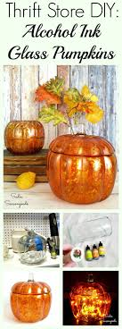 a clear glass pumpkin from the thrift or even a round