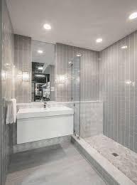 walk in shower in a small bathroom
