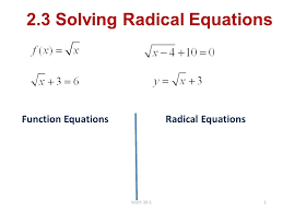 solving radical equation math 1 solving radical equations function equations math solving radical equations math is fun