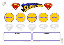 5 Day Reward Chart Superman Resources To Support Behaviour And Learning