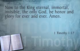 Memorize Scripture: 1 Timothy 1:17 - JeffRandleman.com