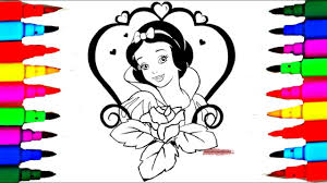 Coloring Book Snow White The Disney Princess Coloring Pages L Kids