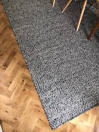 ikea basnas large wool rug 300x200cm grey black white carpet