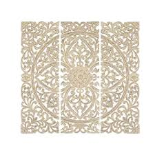 Benzara BM00070 Floral Hand Carved Wooden Wall ... - Amazon.com