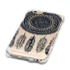Dream Catcher Case Iphone 7 Plus Black Ink Mandala Dream Catcher iPhone Case Transparent 40