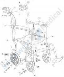 EXP19LT5D parts lightweight expedition aluminum transport chair replacement parts on headrest monitor wiring diagram