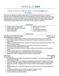 Safety Coordinator Resume Billing Coordinator Job Description