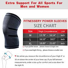 Knee Sleeve Size Chart Knee Compression Sleeve Support For Men And Women 1 Pair