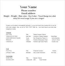 Acting Resume Simple Film Resume Template Word Acting Resume Template Word Film In Ms