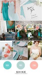 Aqua + Coral + Mint Wedding Inspiration