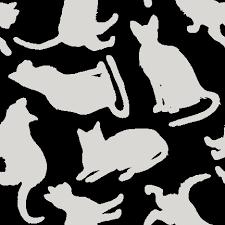 スマホ用ページ単色ネコno434 猫シルエットの壁紙用イラスト条件
