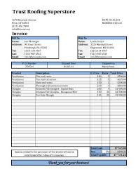 Roofing Invoice Roofing Invoice Template With Shipping Details Invoices Template