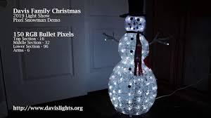 Davis Family Christmas Lights Davis Family Christmas Snowman Demo