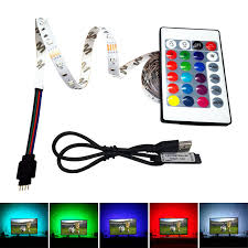 5V USB RGB Led light Strip Flexible PC 3528 50CM <b>1M</b> 5M 5V led ...
