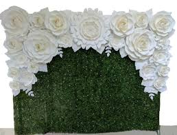 White Paper Flower Wall Flower Walls Oregon Wedding Industry Photo Album By Portland