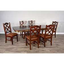 Sunny Designs Dining Chairs Sunny Designs Santa Fe 2 Rustic Dining Set With 6 Side