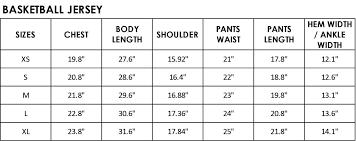 Nba Jersey Size Chart Basketball Jersey Size Chart Lebron James Leads The Nba