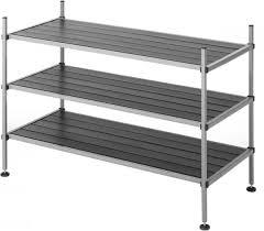 whitmor 3 tier closet storage shelves shoe rack and home organizer