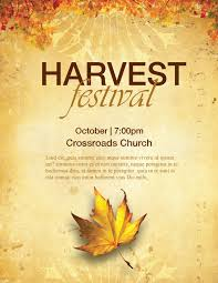 Fall Festival Flier Church Harvest Festival Flyers Template Flyer Templates