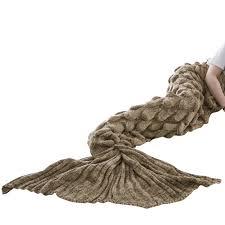 kids mermaid tail sofa blanket super warm