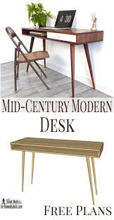 wood office desk plans terrific. If You Love The Sleek Modern Look, You\u0027ll This Easy Mid-Century Desk Build Plan On Remodelaholic.com #diy Wood Office Plans Terrific