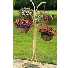 garden stands for plants 4 arm tree with 4 hanging baskets plant stand holder rack patio garden stands for plants