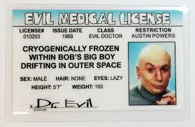 Powers Licen Evil Dr Medical Austin - Drivers