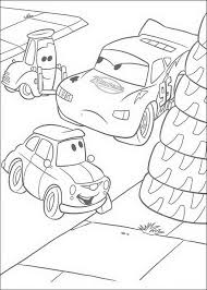Kleurplaat Cars Pixar Bliksem Guido En Luigi
