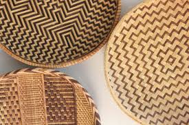 Vintage Woven Rattan Bamboo Basket Trays Boho Wall Decor by Kollektive on  Etsy