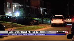 1 shot in leg in mt airy