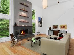 bright cozy modern living room