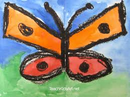 Although the process is clearly drawing, the thought process we need to apply is clearly one. Butterfly With Watercolor Oil Pastel Resist Teachkidsart