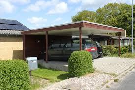 Garage Carport Fredlund Byg Forside Dobbelt Carport