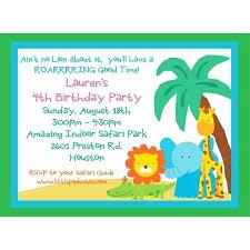Birthday Party Invitations Kids Vintage Zoo Themed Invitation