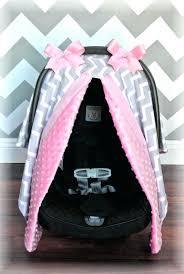 baby boy infant car seat canopy car seat cover light pink gray grey white chevron polka baby boy infant car seat